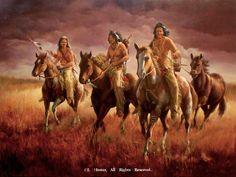 """Raiders Reward"" Native American Prints by J. Hester kK"