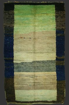 Beni Mguild pile carpet, western Middle Atlas, Morocco, ca. 1930 __ roughly 8' x 5'