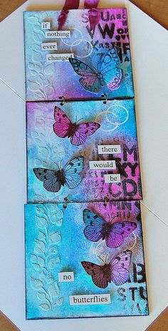 Diary of the everyday life of a crafter: Dylusions Day.Part 2 by Kath Stewart Mixed Media Collage, Mixed Media Canvas, Collage Art, Canvas Collage, Painting Collage, Kunstjournal Inspiration, Art Journal Inspiration, Altered Canvas, Altered Art