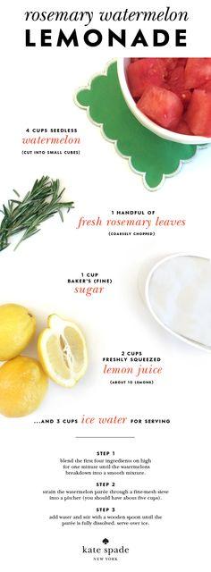 #charmcolorfully rosemary watermelon lemonade