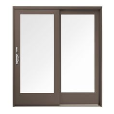 Andersen 59 in. x 80 in. 400 Series Frenchwood Terratone Right-Hand Sliding Patio Door, Pine Interior, Low-E SmartSun Glass-9117172 - The Home Depot