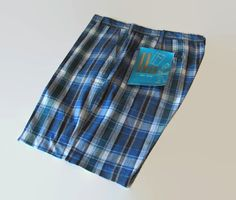 Vintage Mens 1960s Shorts Blue and Green Plaid by jauntyrooster, $49.99