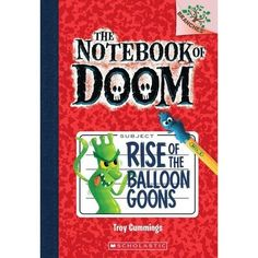 """The Notebook of Doom series, by Troy Cummings - Alexander has just moved to a new town where he is about to uncover all sorts of monsters! He finds an old notebook with the word """"DOOM"""" inscribed on the front cover. The Notebook of Doom, which Alexander now holds, contains top secret information about monsters!"""