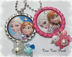 Frozen Birthday Party  PERSONALIZED Frozen Necklace  Anna and Elsa by TooTooPosh on Etsy, $11.00