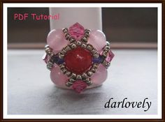 Ruby Rose Purple ... by darlovely | Jewelry Pattern - Looking for your next project? You're going to love Ruby Rose Purple Square Ring (RG158) by designer darlovely. - via @Craftsy