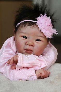 ~ Babies Reborn by, baby girl doll. Very popular reborned Asian sculpt!ISABELLE ~ Babies Reborn by, baby girl doll. Very popular reborned Asian sculpt! Life Like Baby Dolls, Real Baby Dolls, Realistic Baby Dolls, Baby Girl Dolls, Real Doll, Reborn Baby Dolls, Bebe Born, Wiedergeborene Babys, Fake Baby