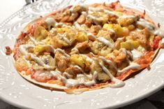 Viktväktarrecept Pasta Salad, Food And Drink, Chicken, Meat, Ethnic Recipes, Crab Pasta Salad, Noodle Salads, Buffalo Chicken, Cubs