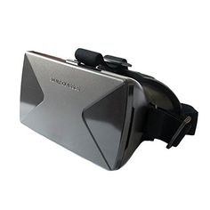 EACHSHOT Head Mounted Virtual Reality VR Box Headset Glasses for 3D Video Game Movie for 35  60 inch Iphone 6 Sumsung Nexus ect Smart Phone * You can find out more details at the link of the image.Note:It is affiliate link to Amazon.