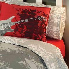 1000 images about guitar bedroom on pinterest guitar for Guitar bedding for boys