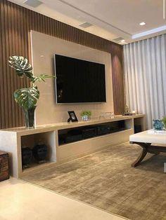 Modern Tv Room, Modern Tv Wall Units, Home Room Design, Home Interior Design, Home Living Room, Living Room Decor, Living Room Tv Unit Designs, Tv Wall Design, House Rooms