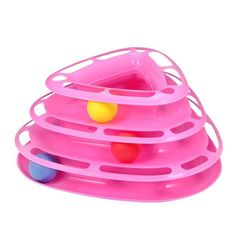 Funny Cat Trilaminar Turntable Cat Toy Pet Intelligence Toys Crazy Ball Disk Interactive Amusement Plate Play Disc 5 Colors
