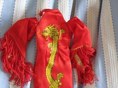 "VINTAGE BARBIE DRESS BOB MACKIE DRAGON LADY FOR CHER 1970""S VERY RARE"