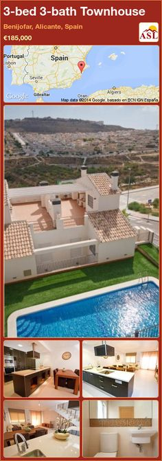3-bed 3-bath Townhouse in Benijofar, Alicante, Spain ►€185,000 #PropertyForSaleInSpain