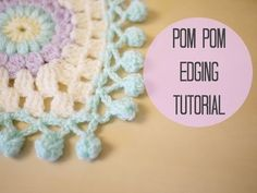 CROCHET: Pom pom edging, Bella Coco, My Crafts and DIY Projects