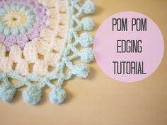 CROCHET: Pom pom edging | Bella Coco - YouTube