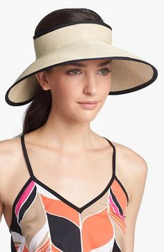 Nordstrom Straw Visor available at #Nordstrom