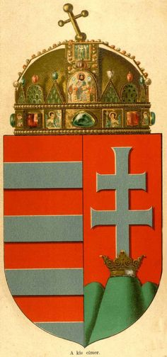 Empire of Austria-Hungary, small coat of arms of the Hungarian Countries, 1867-1915.