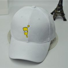 Bart Simpson Embroidered Suede Hat (3 Colors) 305b24c2599b