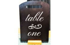 Wedding table name chalkboard rustic table name board rustic Chalkboard Table, Name Boards, Wedding Table Names, Christmas Events, Rustic Table, White Vinyl, Name Signs, Vinyl Lettering, Handmade