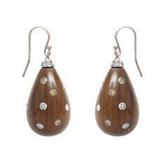 Paolo Costagli Rosewood & Diamond Drop Earrings- I LOVE LOVE LOVE THESE!  So simple and beautiful!!!