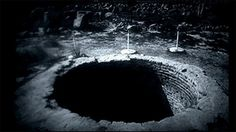 Mel's Hole, Ellensburg, Washington. This nine-foot-wide bottomless hole on Mel Waters's former property is awash in mystery. Waters reported sinking a fishing line some 15 miles into the pit in an attempt to find the bottom. He never found it. He also claimed the abyss would shoot black rays and could bring animals back to life; a neighbor tossed a dead dog into the hole only to have it return, alive, from out of the woods.