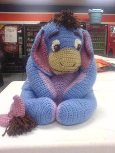 Crochet Eeyore, love this, wish i could make him