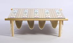 Mori table. design by. Daniel Valero. handwoven by. Rubén Tamayo.   www.mestiz.mx