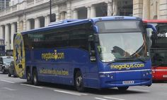 Megabus in England Megabus also operates trains to some destinations around the UK, usually starting at 10 USD. Megabus is definitely the cheapest way to get around the UK and now is also the cheapest way to get to Paris, Brussels, or Amsterdam; they just launched routes from London to these cities with fares as low as 10 USD.