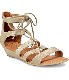 1cdf72381b80 Born Dakar LaceUp Metaliic Sandals  Dillards