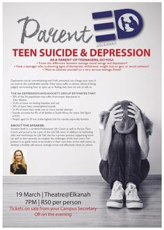 Teen Suicide and Depression Talk Independent School, Christian Families, Family Values, Mood Swings, You Changed, Depression, High School, Parenting, Teen