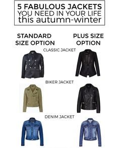 ON THE BLOG: want to add a jacket to your wardrobe but don't know where to start? I've rounded up 5 different styles for you including standard and plus size options. Hit my profile link to read (and shop )