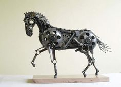 Animal Sculptures Made Out of Scrap Metal Bytomas Vitanovsky Recycled Art Recycling Metal