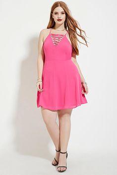 Plus Size Lace-Up Dress | Forever 21 PLUS - 2000181823
