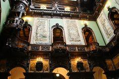 Peles Castle, Grand Hall - Romania Romanian Castles, Peles Castle, Palace Interior, Montenegro, Palaces, Balcony, Around The Worlds, Europe, Interiors