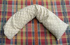 Homemade hot pack - warm, moist heat for sore muscles.                 Cut two 18×6 inch pieces of fabric; sew 3 sides, leaving an end open for filling; fill it 3/4′s full with uncooked rice and some whole cloves; stitch up the opening.  Make your bag any size or shape you want, just remember to fill it only about 3/4 fill.   You can use just rice, but it does omit a funky little odor, hence using something like cloves, dried whole rosemary, or dried lavender. smells so good.
