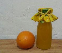 Orangensirup gewürzt mit Ingwer und Jogitee