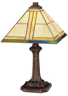 """Meyda 19""""H Trellis Table Lamp"""