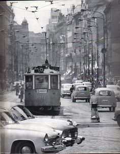 Photo from DDR Motor Jahr 1963 - A busy Prague street scene - how many vehicles can you recognise? Old Pictures, Old Photos, Prague Photos, Prague Czech Republic, World View, Medieval Town, Time Travel, City, Places
