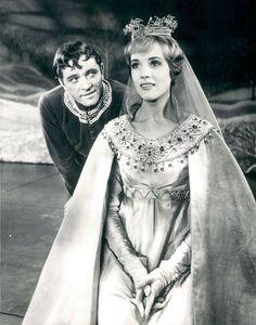 Camelot, 1960 - Julie Andrews & Richard Burton as King Arthur & Guinevere