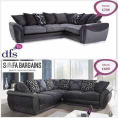 PRICE COMPARISON- Why pay more? Get the DFS 'Farrow' look by getting our Liberty sofa for less at only 699. Save 100 now!