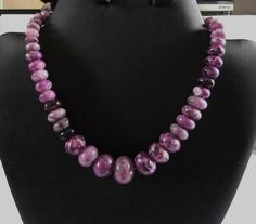 Charoite Sterling Silver Necklace on Etsy, $24.77