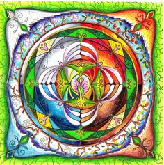 Elemental mandala / Earth, Water, Fire, and Air / Spring, Summer, Autumn and Winter