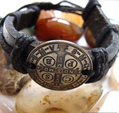 St Benedict Medal Bracelet by ParanormalProtection on Etsy, $20.00