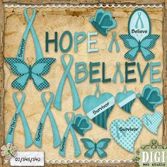 Awareness Ribbons (Teal) 1 - Clip Art by Leah Rae : Digi Web ...