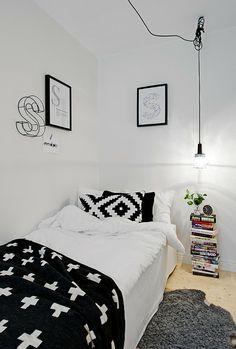 Un lugar de estilo escandinavo en black and white