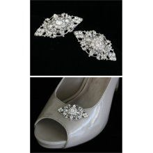 vintage bridal shoe clips