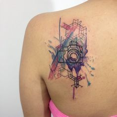 Watercolor Old Camera Tattoos by Analisbet Luna Ana Luna Tattoo