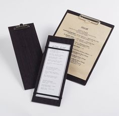 Espresso Wood Menu Holders are great for any restaurant!  New at American Metalcraft!
