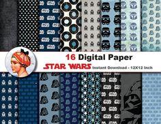 16 x Star Wars paper Digital paper patterns by JonyRama on Etsy