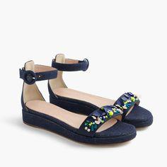 Embellished flatform sandals : sandals   J.Crew